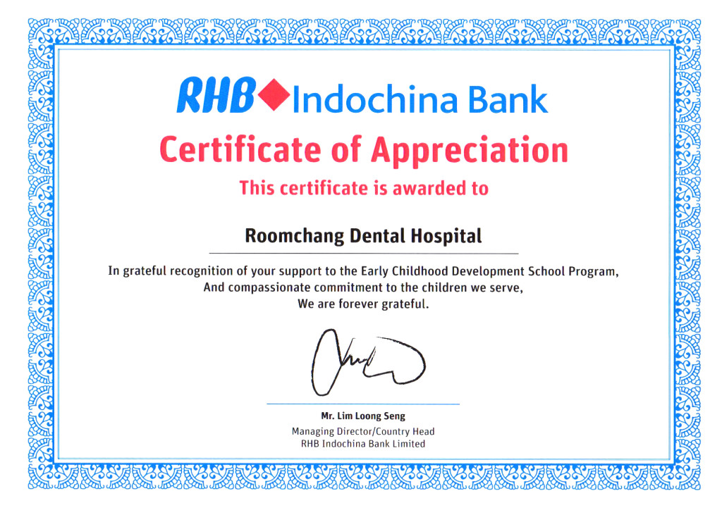 Early childhood development school program_RHB Indochina bank & Roomchang Dental
